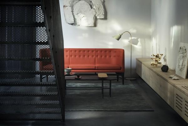 Red nordic design sofa